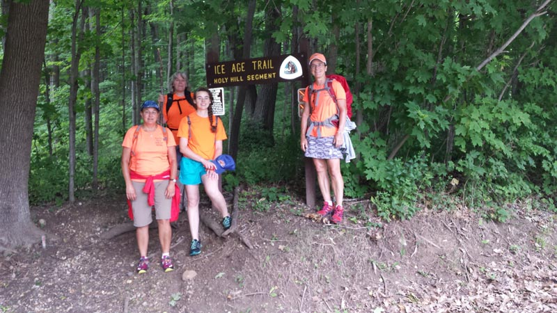 Women's pilgrimage on the Ice Age Trail
