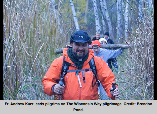 Fr. Kurz Leads pilgrims on the Wisconsin Way pilgrimage