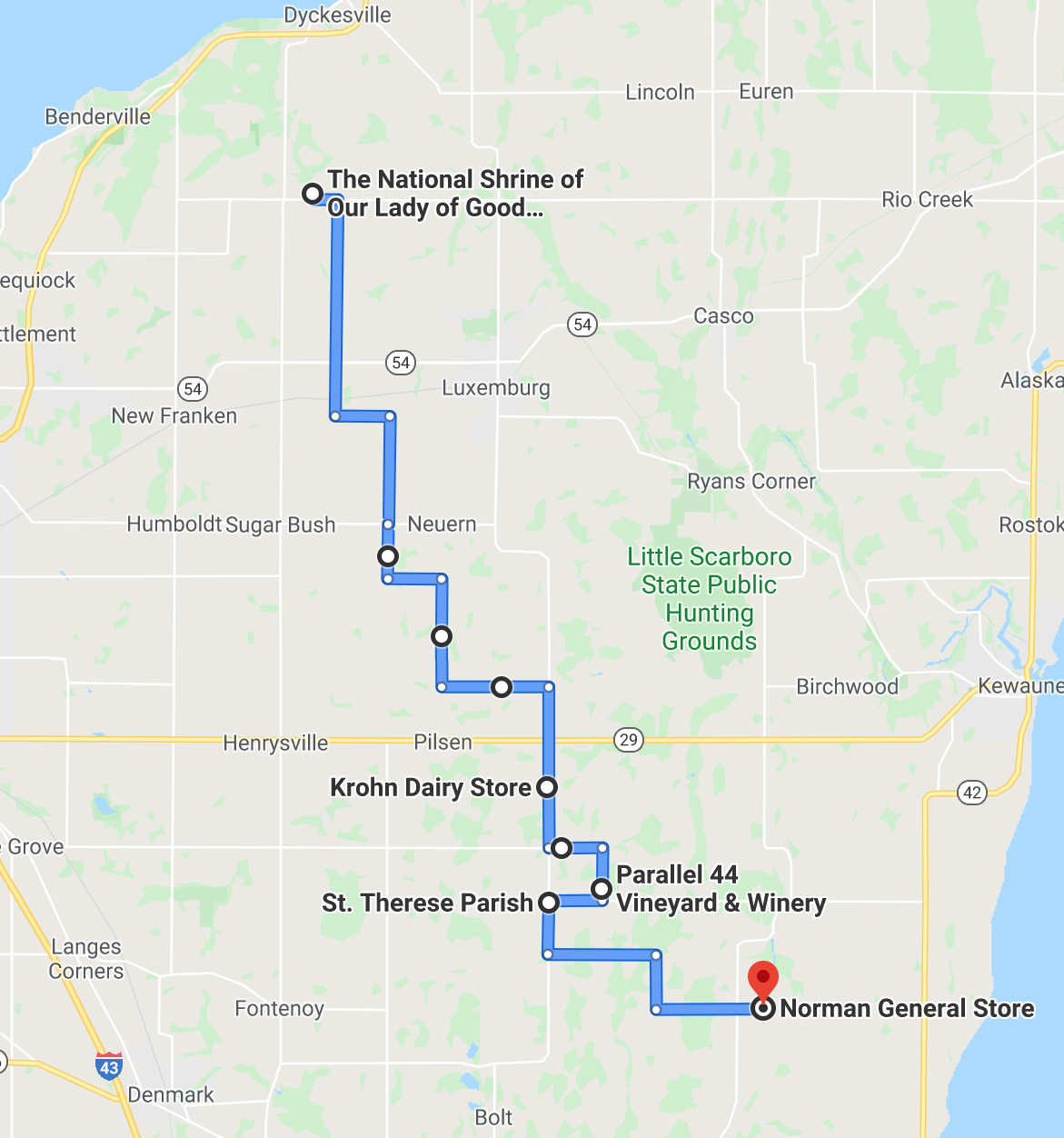 first segment of the cycling pilgrimage