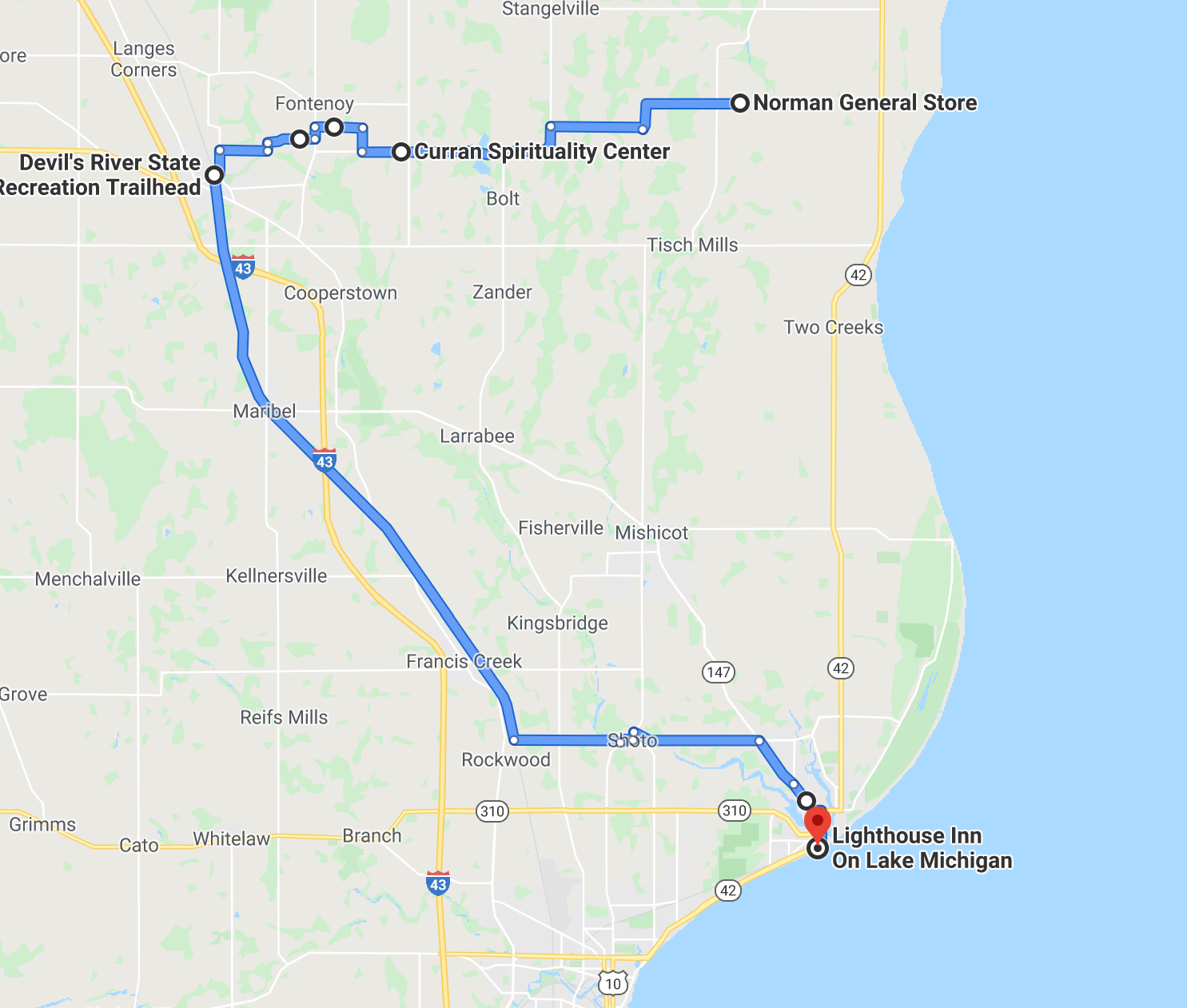 Second segment of the cycling pilgrimage